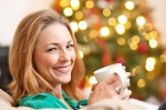 woman-drinking-green-tea-christmas